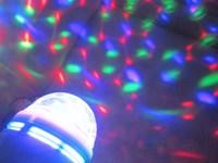 Hot  E27 9W 3*3W 85V-265V/AC Colorful Rotating RGB 3 LED Spot Light Bulb Lamp ( Free shipping )( 2 years warranty )