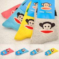 2013 cartoon cotton socks brand leisure women  knee socks fall candy meias color socks for women/cheap wholesale sell