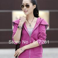 Free shipping , fashion dress autumn - winter Slim sweater coat, cardigan long-sleeved cotton women jacket