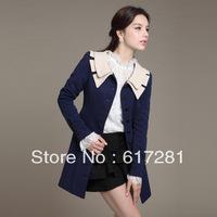 Free shipping , autumn - winter new women female jacket, long sleeve lapel , single-breasted casual windbreaker jacket body
