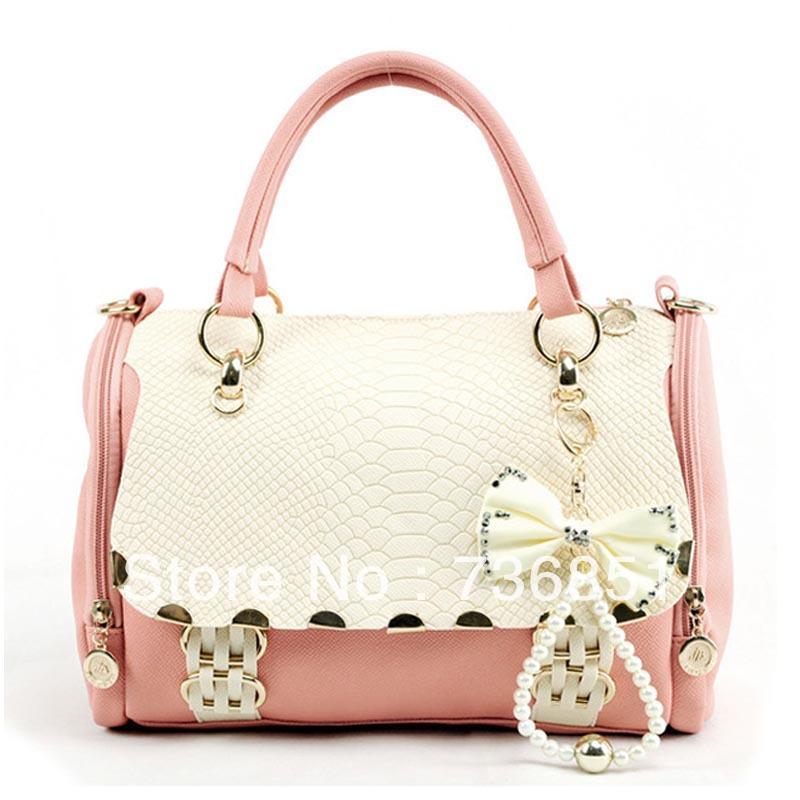 أحلى شنط 2013-women-s-handbag-shoulder-bag-messenger-bag-vintage-bow-sweet-female-bag-women-s-handbag