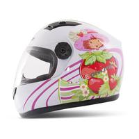 T866 Children's Motorcycle Helmet Strawberry Girl Safety Helmet for Girl Cute Full Face Kids' Helmet 4 color Free Shipping S7099