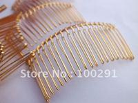 Free shipping Wholesale 100piece 75mm 20 teeth Bead making jewelry metal hair combs