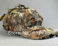 DHL Free Shipping 50pcs/lot Baseball Cap Leaves Deciduous Bionic Camping Cap Sport Hat for Hiking CS War S7094