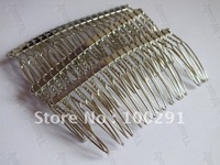 Jewelry DIY findings - 75mm 20 teeth hair combs metal headband head band hair clip hair bobby pins findings accessories