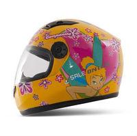 T866 Children's Motorcycle Helmet Tinker Bell Safety Helmet for Girl Cute Full Face Kids' Helmets 4 colors Free Shipping S7103