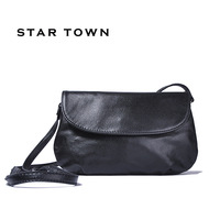 Women Brief elegant envelope bag vintage bag small messenger bag genuine leather handbag women's first layer of cowhide women's