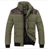 [Factory outlets] Men's Slim padded collar coat men's jacket men's casual jacket thick