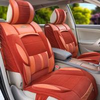 Winter car seat cushion thermal plush car mat winter pad harvard steps leaps the car