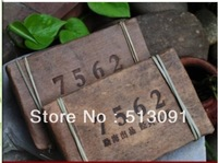 Free shipping more than old Pu er Pu'erh tea Chinese 2008year yunnan Puer tea 250g 7562 brick tea