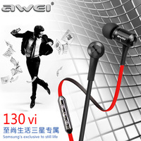 Awei ts-130vi smart earphones wire bass belt microphone