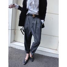 Ladyangel 2013 cool bf vintage elegant high waist woolen cloth western-style trousers  1002(China (Mainland))