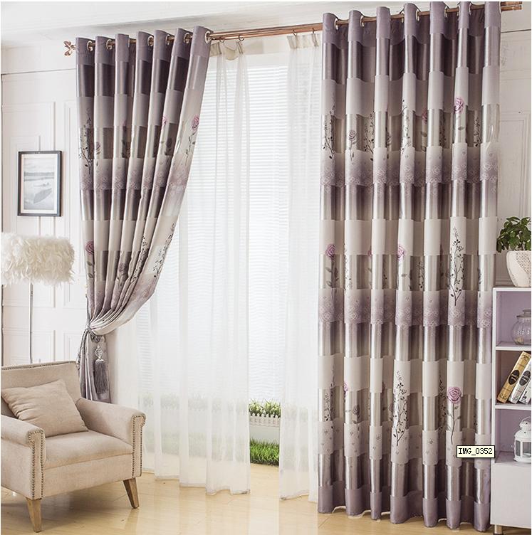 Rideaux chambre violette promotion achetez des rideaux for Voilage moderne fenetre