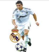 Free shipping ,Ronaldo wall stickers