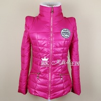 2014 Slim new winter coat color female models warm lamb's wool collar cotton candy zipper jacket #
