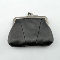 Sheepskin coin pocket genuine leather women's short design coin purse 2013 female gift