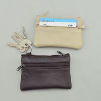 Genuine leather coin purse key wallet bag multicolour sheepskin car key wallet 2012