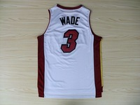 #3 Dwyane Wade High Quality New Material Men Throwback Basketball Jersey,Embroidery logos,Size 40-56