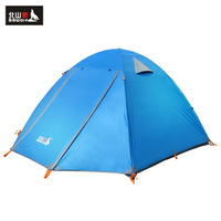 Tent 3 - 4 aluminum rod outdoor tent outdoor double layer 3 outdoor products zl006