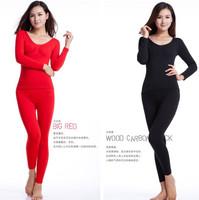 Women's o-neck body shaping slim waist long johns long johns lace underwear beauty care women's seamless tight basic thermal set