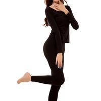 100% cotton long johns long johns set women's underwear set long-sleeve plus size Size fits all basic shirt trousers thermal