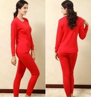 Free Shipping Sainily women's 100% cotton plus size plus size long johns long johns set women's 100% cotton thermal underwear