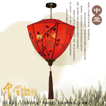 New chinese style fabric antique pendant light balcony lanterns restaurant lights project light