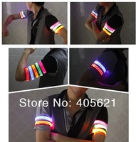 NEW 6 colors 2.5cm Lattice LED Light Motion Sport Armlet Band Wrist Band Ribbon Cheer Props Flash Holiday  Fashion Toys
