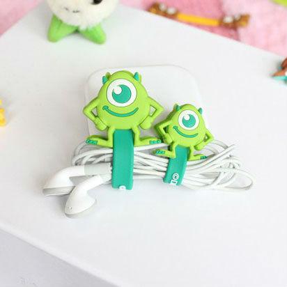 Cute cartoon Big eyes Headphone Cord Cable Winder Manage Organizer(China (Mainland))