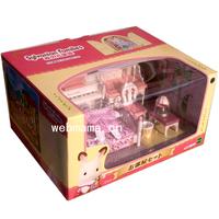 Free Shipping 2013 New Original Sylvanian Families Toys Girls Bedroom Set Pretend Play Toys Furniture Toys Kids Toys
