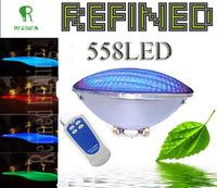 LED PAR56 pool light 40W 12V RGB IP68 558led LED Swimming Pool Light Outdoor Lighting Floodlight supernova sale CE RoHS