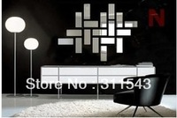 18pcs wall sticker mirror wall decor room mirrored decorative stickers, luxury mirrors home decoration MS027  Free shipment