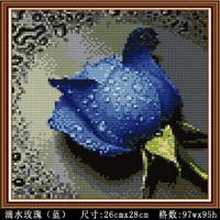 Free shipping, Cloth-soled diy diamond painting square drill flower drip resin diamond cross stitch rose diamond
