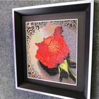 Free shipping, Diy diamond painting drip rose square drill full rhinestone diamond rhinestone pasted painting