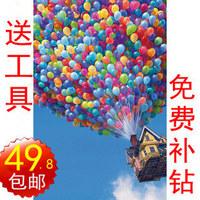 Free shipping, Diy diamond painting square drill multicolour balloon diamond rhinestone pasted painting decorative painting