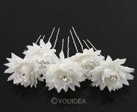 5X Women's Camellia Flower Pattern U Hair Pin Jewelry Hairpin Clip Bob 5Colors 62011