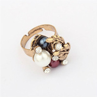 Min. Order $15 (Mix Designs) Factory Direct Hot Sell Europe New Fashion Vintage Leaf Pearl Women Alloy Rings,Free Shipping,R40