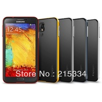 SPIGEN For Samsung Galaxy Note 3 Case Protective Slim Fit Dual Protection Cover for Galaxy Note III + Protective film