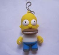 Cartoon cute Simpsons Homer 8-32GB USB 2.0 Memory Drive Stick Pen / usb flash drive  card reader as gift