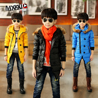 Autumn children's clothing male winter child 2013 fur collar child wadded jacket cotton-padded jacket thickening outerwear