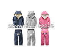 2013 Children's Sherpa crazy to buy designer baby clothes section of thick winter baby clothing sets (1-5 years old)