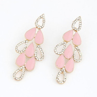 (Min order $15,can mix) Free Shipping Rhinestone Fashion Jewelry Bright Earring Elegant Style Stud Earrings For Ladies.EA153