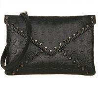 Free shipping 2014 women's fashion envelope handbag vintage skull rivet bag  day clutch small cross-body bags