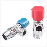 Space aluminum cold and hot water angle valve water stop valve triangle valve