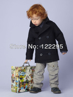 2013 autumn and winter double-sided fabric male baby warm coat double-breasted coat feather embroidery 1 package (0-3 years old)