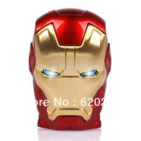 Iron man usb flash drive 2GB 4GB 8GB 16GB 32GB pen drive thumb usb, Fashion Avengers Iron Man LED Flash Memory Drive Stick Pen