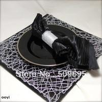 8 rows wedding table decoration rhinestone bling napkin ring LE008S