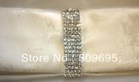 luxury wedding table decoration 5 rows A grade crystal diamond silver napkin ring LE005RR