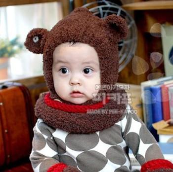 Ear coral fleece thermal fairy cap ear autumn and winter child baby ear cap d46 protector