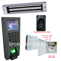 Zksoftware F18 fingerprint  access control , 12V5A power supply, magnetic lock, FR1200 fingerprint reader access control system